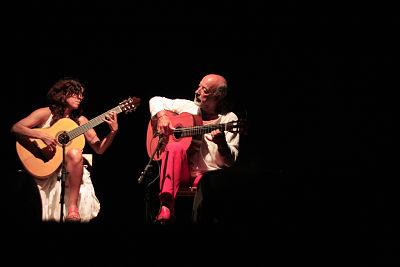 """Con el dúo """"Guitarras Mediterráneas"""", junto al Maestro Juan Morilla"""